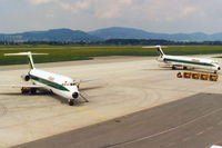 Graz Airport, Graz Austria (LOWG) - It is unusual to see two Alitalia planes at LOWG - by Robert Schöberl