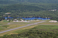 Dillant-hopkins Airport (EEN) - Dillant-Hopkins Airport runways 20 & 32 looking East with Wilson Pond in the background. - by Ron Yantiss