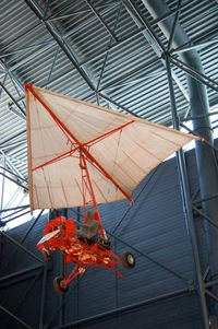 Washington Dulles International Airport (IAD) - Gemini Paraglider Research Vehicle 1-A with wing at the Steven F. Udvar-Hazy Center, Smithsonian National Air and Space Museum, Chantilly, VA - by scotch-canadian