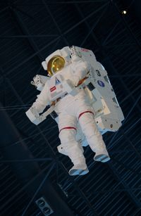 Washington Dulles International Airport (IAD) - Manned Maneuvering Unit at the Steven F. Udvar-Hazy Center, Smithsonian National Air and Space Museum, Chantilly, VA - by scotch-canadian