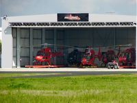 Moorabbin Airport - Microflite Helicopters hanger containing 5 Eurocopters - by red750