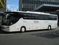 Paris Orly Airport, Orly (near Paris) France (LFPO) - The German made Setra S416GT-HD says : Premium Service (for you) Whichever Your Airlines. AF has been running a motor coach scheduled servce linking selected points in downtown Paris with the airports opened to scheduled passenger traffic for decades.  - by Alain Durand