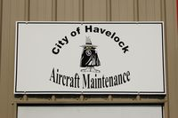 Cherry Point Mcas /cunningham Field/ Airport (NKT) - Sign on the Aircraft Maintenance Building at the Havelock Tourist & Event Center, Havelock, NC - by scotch-canadian