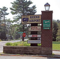 Dillant-hopkins Airport (EEN) - Entrance to the main terminal at Dillant-Hopkins Airport, Keene, NH - by Ron Yantiss