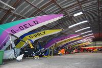 Newtownards Airport - A flock of micros roosting in the hanger... - by Noel Kearney