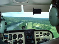Gastons Airport (3M0) - Final approach to runway 24 - by Megan Heilmann