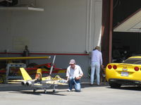 Santa Paula Airport (SZP) - RC JET Kerosene Burner-taxi demo under radio control - by Doug Robertson