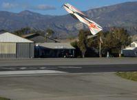Santa Paula Airport (SZP) - RC Drone 'FLASH' extreme aerobatic, inverted climb - by Doug Robertson