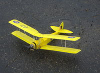 Santa Paula Airport (SZP) - Rick's Tiger Moth RC drone on the deck - by Doug Robertson