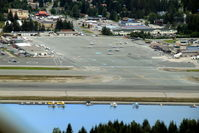Juneau International Airport (JNU) - downwind for very short final Juneau Alaska in Ce208 N332AK - by Pete Hughes