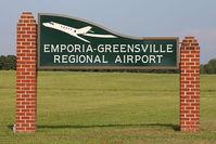 Emporia-greensville Regional Airport (EMV) - Emporia-Greensville Regional Airport sign. - by Dean Heald