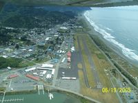 Gold Beach Municipal Airport (4S1) - A picture of Gold Beach Airport as we were flying down Rogue River. Looking at the (16) the north end, the other end (34) - by Melvin B. Echelberger