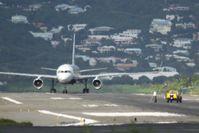Princess Juliana International Airport, Philipsburg, Sint Maarten Netherlands Antilles (TNCM) - It's pick up dead animal time at TNCM runway 10 - by Daniel Jef