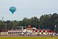 Sussex County Airport (GED) - Terminal at Sussex County Airport.  Hotair balloon was there for the Wings & Wheels Airshow. - by M. Lee Derrickson
