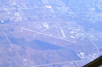 Joe Foss Field Airport (FSD) - Seen from the tail-boom position in a KC-135 at Flight Level 310. - by Glenn E. Chatfield