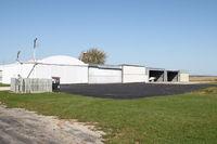 Waukon Municipal Airport (Y01) - The hangar complex - by Glenn E. Chatfield