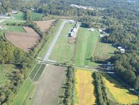 Hendersonville Airport (0A7) - Looking down runways 15 ... half is paved and half is grass. The paved portion is 50' wide - there is a 50' wide grass portion of that same runway. To the right in the picture is a private, parallel grass runway on the west side of a row of hangars. - by Alex Nelon
