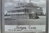 Billings Logan International Airport (BIL) - This picture sits in the Yellowstone County mesuem at Billings Logan Airport.  It is how the Billings Logan terminal looked back in the early 1940's. - by Daniel Ihde