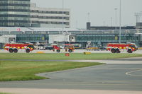 Manchester Airport, Manchester, England United Kingdom (EGCC) - Manchester Airport Fire Service Convoy. - by David Burrell