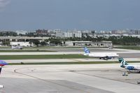 Fort Lauderdale/hollywood International Airport (FLL) - Mix of old and new - Jet Blue A320, DC-3 and turbo Beech 18 waiting to depart - by Florida Metal