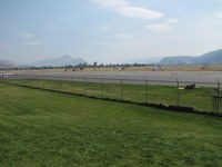Kamloops Airport - ..There are 9 helicopters in this shot and another 9 that aren't. ( you couldn't swing a dead cat without hitting one.   BAD fire season.) - by Blindawg