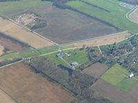 Fry Airport (0OH8) - Looking SE from 4500' - by Bob Simmermon