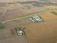 Piqua Airport- Hartzell Field Airport (I17) - Looking NE from 2500' - by Bob Simmermon