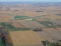 Richmond Municipal Airport (RID) - Looking SSW from 2500' - by Bob Simmermon