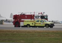 Jacksonville Nas (towers Fld) Airport (NIP) - Emergency vehicles responding to A-10 with blown tire - by Florida Metal