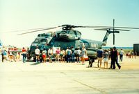 Quonset State Airport (OQU) - U.S. Navy Sikorsky RH-53D from Helicopter Mine Countermeasures Squadron 14 (HM-14) on display at Quonset State Airport, North Kingstown, RI - circa 1980's - by scotch-canadian