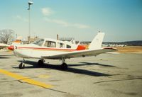 Groton-new London Airport (GON) - Piper PA-28-161 Cherokee Warrior parked at Groton-New London Airport, New London, CT - circa 1980's - by scotch-canadian