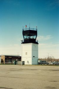 Groton-new London Airport (GON) - Airport Control Tower at at Groton-New London Airport, New London, CT - circa 1980's - by scotch-canadian