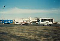 Igor I Sikorsky Memorial Airport (BDR) - Fire - Repair - Maintenance Building at Bridgeport Municipal Airport, Bridgeport, CT - circa 1980's - by scotch-canadian