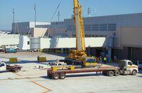 San Antonio International Airport (SAT) - New jetbridge being installed - by RWB