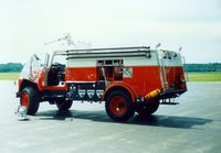 Dutchess County Airport (POU) - Dutchess County Airport Fire Truck at Poughkeepsie, NY - circa 1980's - by scotch-canadian