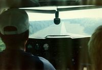 Falmouth Airpark Airport (5B6) - Short Final, Runway 25 at Falmouth Airport, Falmouth, MA - July 1986 - by scotch-canadian