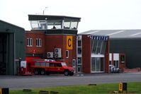 Gamston Airport - Gamston ATC Tower - by Chris Hall