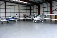 Gamston Airport - immaculately clean hangars at Gamston - by Chris Hall