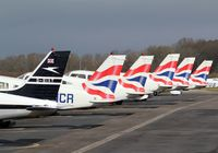 Wycombe Air Park/Booker Airport - The Airways fleet lined up ready for use on Sunday morning - by G TRUMAN