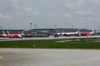 Kuala Lumpur International Airport, Sepang, Selangor Malaysia (WMKK) - Air Asia/Air Asia X fortress at KL - by Micha Lueck