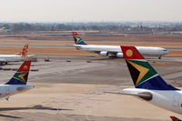 OR Tambo International Airport - Africa has the most beautiful tails! - by Micha Lueck