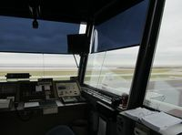 Burke Lakefront Airport (BKL) - A view from inside the Air Traffic Control Tower at Burke.  - by aeroplanepics0112