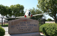Merced Rgnl//macready Field Airport (MCE) - the front gate : you'll find a P-80 as gate guardian there - by olivier Cortot