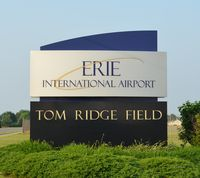 Erie Intl/tom Ridge Field Airport (ERI) - The entrance at sign at KERI.  - by aeroplanepics0112