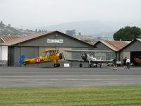 Santa Paula Airport (SZP) - N1942 1942 Boeing Stearman N2S-3 and N56245 1942 Boeing Stearman PT-17 on display-Biplane Rides offered - by Doug Robertson