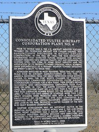 Fort Worth Nas Jrb/carswell Field Airport (NFW) - Texas Historical Marker near the Lockheed Martin Aircraft Plant in Fort Worth - by Zane Adams