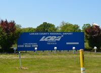 Lorain County Regional Airport (LPR) - The entrance sign at Lorain County Regional Airport, May 19th, 2012.  - by aeroplanepics0112