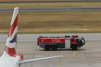 Tegel International Airport (closing in 2011), Berlin Germany (EDDT) - Fire engine on patrol..... - by Holger Zengler