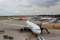 Tegel International Airport (closing in 2011), Berlin Germany (EDDT) - A little big world in red and white...... - by Holger Zengler