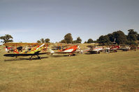 X1WP Airport - Without doubt one of the most scenic of UK annual air days, this the 1989 De Havilland Moth Rally held in the park lands of Woburn Abbey in Bedfordshire. - by Malcolm Clarke